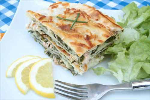 Lachslasagne Rezept Lasagne Mit Spinat Und Lachs